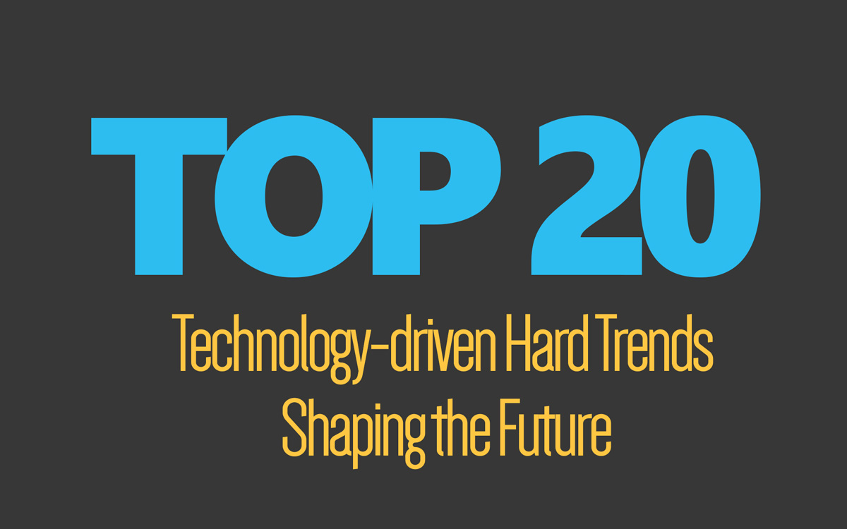 Top 20 Technology-Driven Hard Trends Shaping The Future